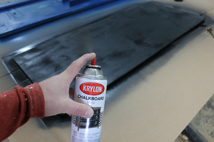 krylon chalkboard paint instructions