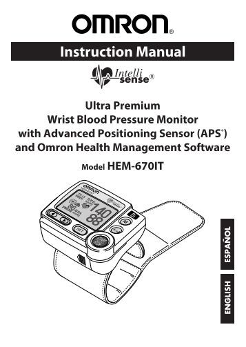 instruction manual who blood pressure monitor