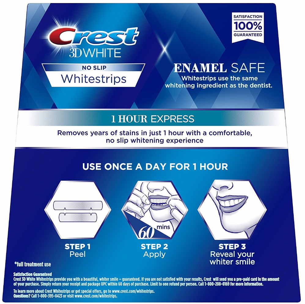 crest whitestrips 1 hour express instructions