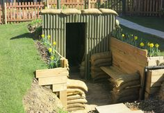 how to build an anderson shelter instructions for kids