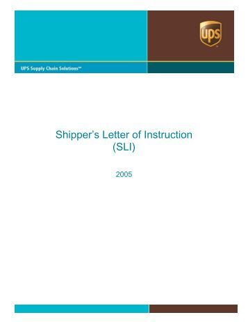 shippers letter of instruction example
